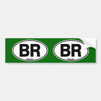 Brazil BR Oval International Identity Code Letters Bumper Sticker