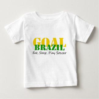 Brazil - Eat Sleep Play Soccer Baby T-Shirt