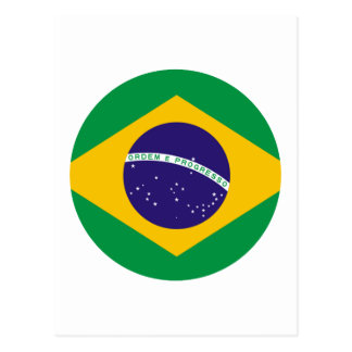 Brazil Flag Circle The MUSEUM Zazzle Post Card