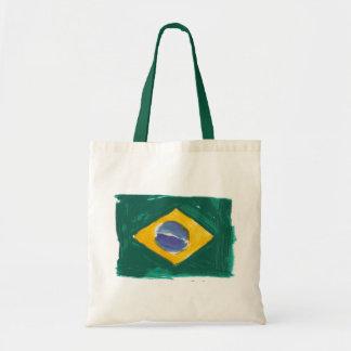 Brazil flag fashion tote bags