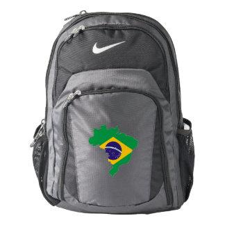 Brazil Flag/Map Backpack