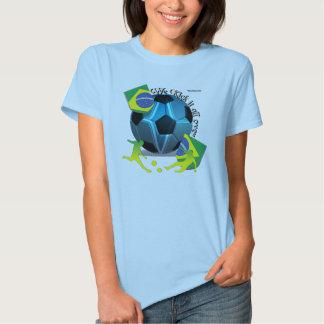Brazil Kickin It Ladies Babydoll Shirt