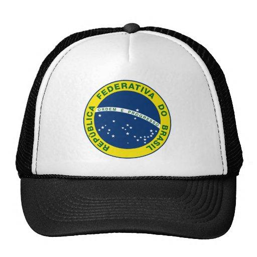 brazil national seal mesh hat