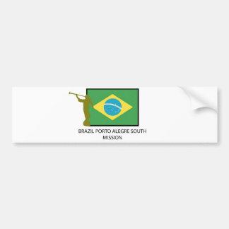 BRAZIL PORTO ALEGRE SOUTH MISSION LDS BUMPER STICKER