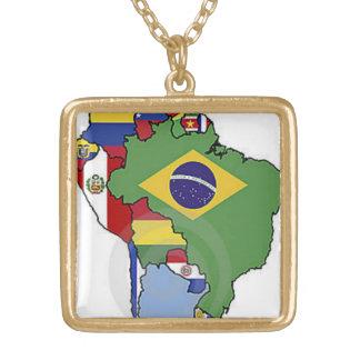 Brazil Square Pendant Necklace