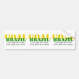 Brazil - Talk Feet Play Heart Bumper Sticker