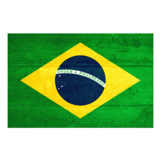 Brazil Wood Flag Stationery