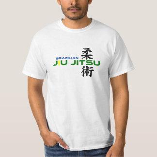 Brazilian Jiu Jitsu with Japanese Characters T Shirts