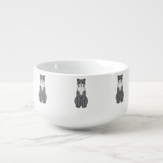 Brazilian Shorthair Cat Cartoon Soup Mug