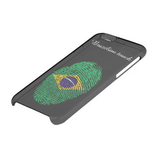 Brazilian touch fingerprint flag clear iPhone 6/6S case