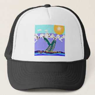 Breach to the Midnight sun Humpback Whale Trucker Hat