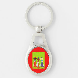 Bread and Salt Girls Silver-Colored Oval Key Ring