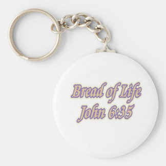 Bread of Life John 6:35 Basic Round Button Key Ring