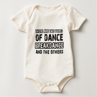 Breakdance dancing designs baby bodysuit
