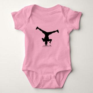 Breakdancer (spin) baby bodysuit