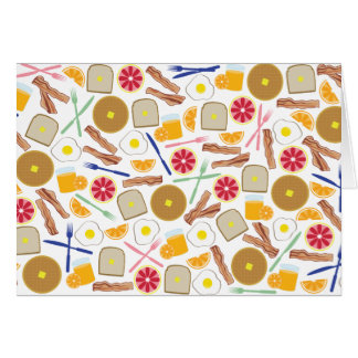 Breakfast Foods Pattern Notecard