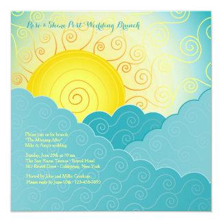 Breaking Sun Post Wedding Brunch 5.25x5.25 Square Paper Invitation Card