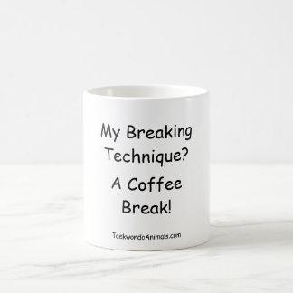 breaking technique basic white mug
