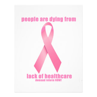 Breast Cancer and HealthCare 21.5 Cm X 28 Cm Flyer