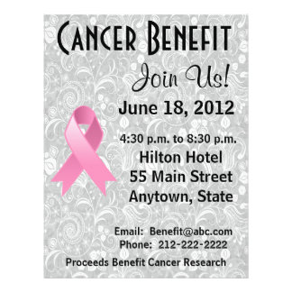 Breast Cancer Awareness Benefit Gray Floral Flyer