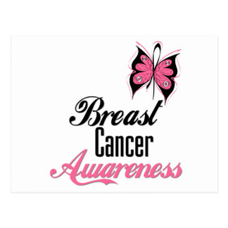 Breast Cancer Awareness Butterfly Post Cards