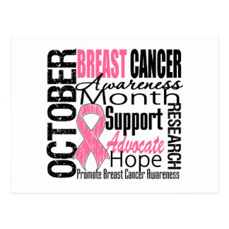 Breast Cancer Awareness Month Tribute Post Cards