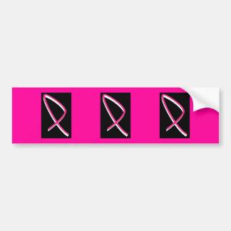 Breast Cancer Awareness Pink Ribbon Bumper Sticker