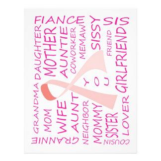 BREAST CANCER AWARENESS PINK RIBBON DESIGN 21.5 CM X 28 CM FLYER