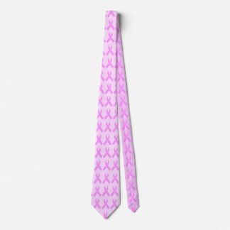 Breast Cancer Awareness Pink Ribbon Tie