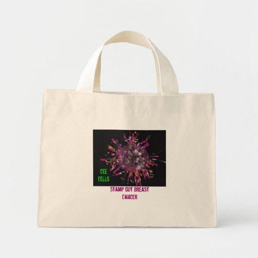 Breast Cancer Cell, Stamp out Breast Cancer, CE... Bag