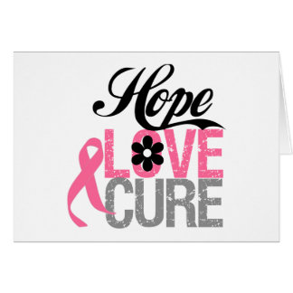 Breast Cancer HOPE LOVE CURE Gifts Cards