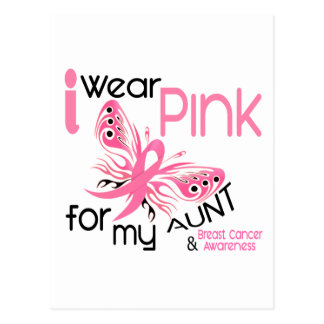 Breast Cancer I WEAR PINK FOR MY AUNT 45 Post Cards