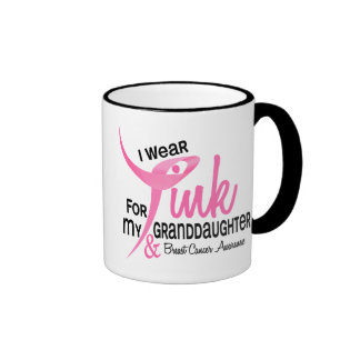 BREAST CANCER I Wear Pink For My Granddaughter 41 Coffee Mugs