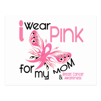 Breast Cancer I WEAR PINK FOR MY MOM 45 Post Cards