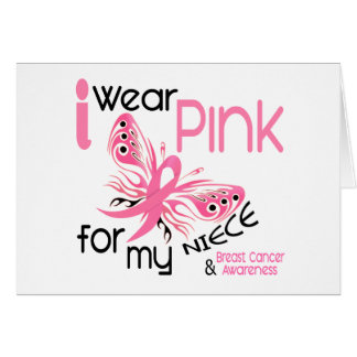 Breast Cancer I WEAR PINK FOR MY NIECE 45 Card
