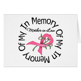Breast Cancer In Memory of My Mother-in-Law (Rose) Cards
