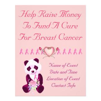 Breast Cancer Panda Bear 21.5 Cm X 28 Cm Flyer