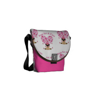 Breast Cancer Pugs for A Cure Bag Commuter Bag