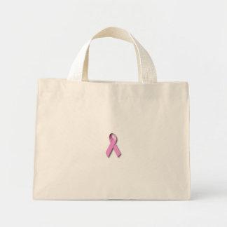 breast-cancer-ribbon mini tote bag
