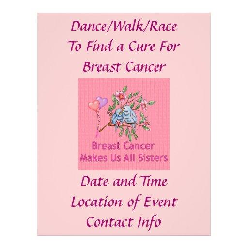 Breast Cancer Sisters Flyer Design