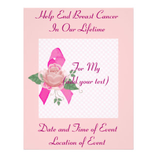 Breast Cancer Support 21.5 Cm X 28 Cm Flyer