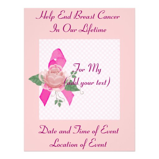 Breast Cancer Support Flyers