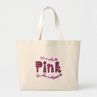 Breast Cancer Support Gifts Jumbo Tote Bag