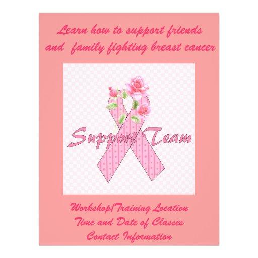 Breast Cancer Support Team Flyer Design