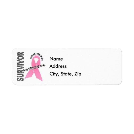 BREAST CANCER Survivor 1 Return Address Label