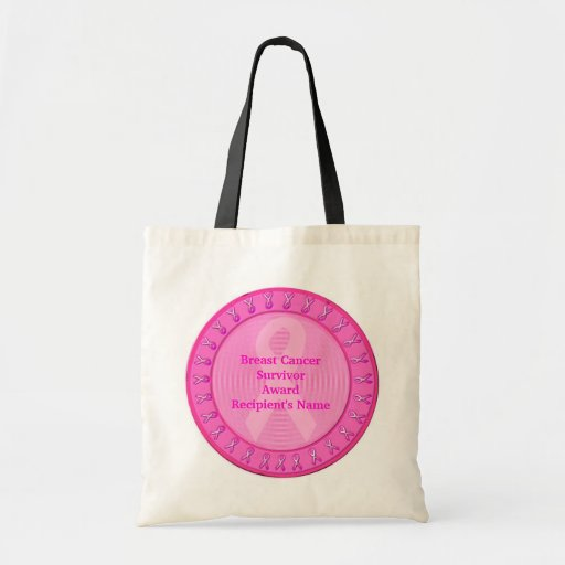Breast Cancer Survivor Award Canvas Bag