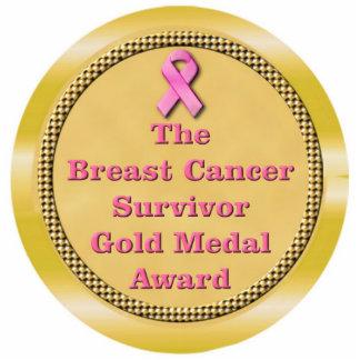 Breast Cancer Survivor Gold Medal Award Cut Out