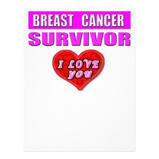 Breast Cancer Survivor I Love You 21.5 Cm X 28 Cm Flyer