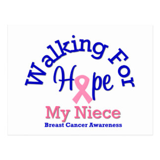 Breast Cancer Walking For Hope For My Niece Post Card