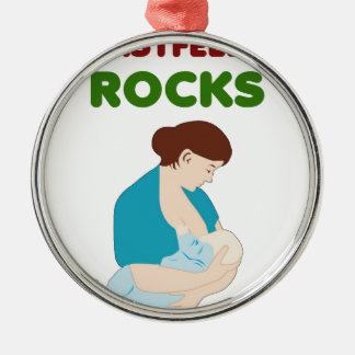 breast feeding mom rocks christmas ornament